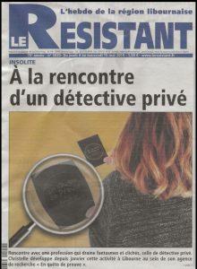 detective journal article resistant libourne