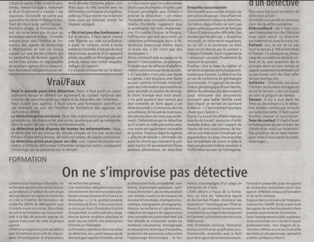 detective journal article resistant libourne